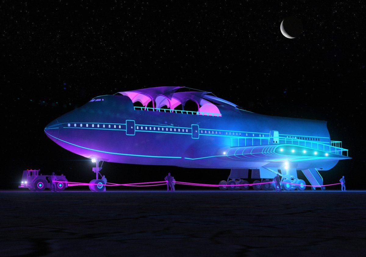 747 komt aan op Burning Man - Video