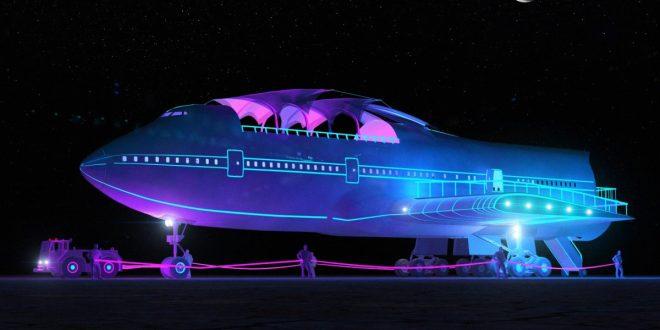 747 komt aan op Burning Man – Video