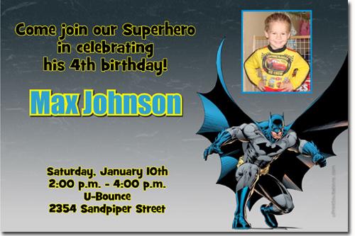 Batman Birthday Invitations Super Hero Birthday