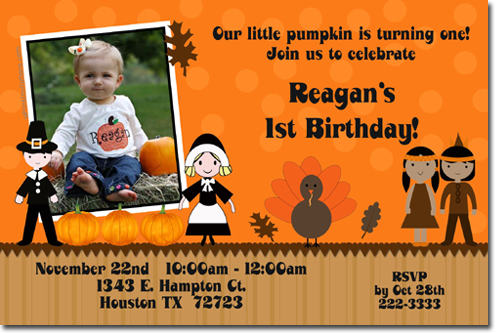 Thanksgiving Day Dinner Party Invitations - Design your own