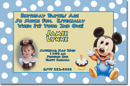Mickey Mouse Birthday invitations, Candy Wrappers, Thank You Cards - mickey mouse birthday invitation template
