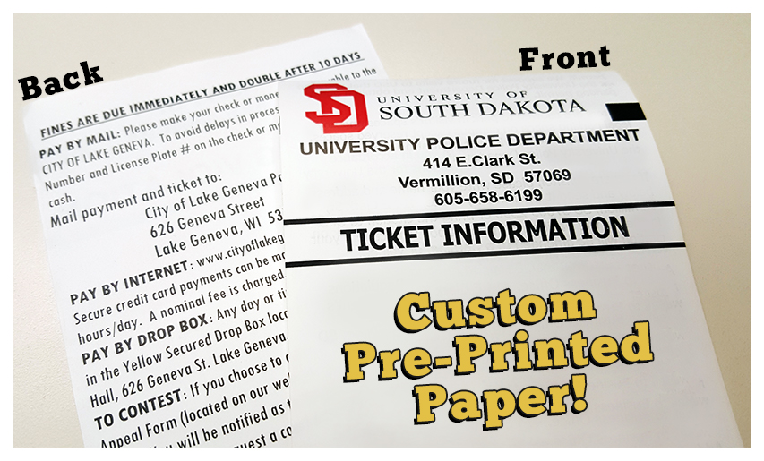 United Public Safety Q1 2016 Newsletter - printable ticket paper
