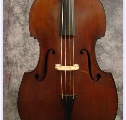 """SOLD: 1938 Voit & Geiger """"Pancake"""" Double Bass"""