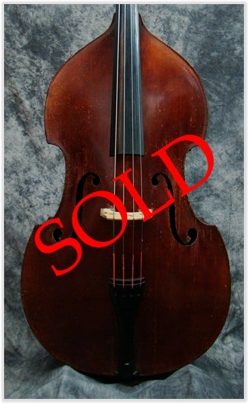 SOLD: John Juzek Fully Carved Double Bass c1950
