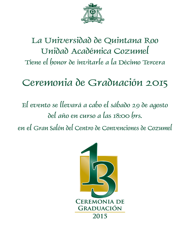 ceremonia de graduacion - Universidad de Quintana Roo