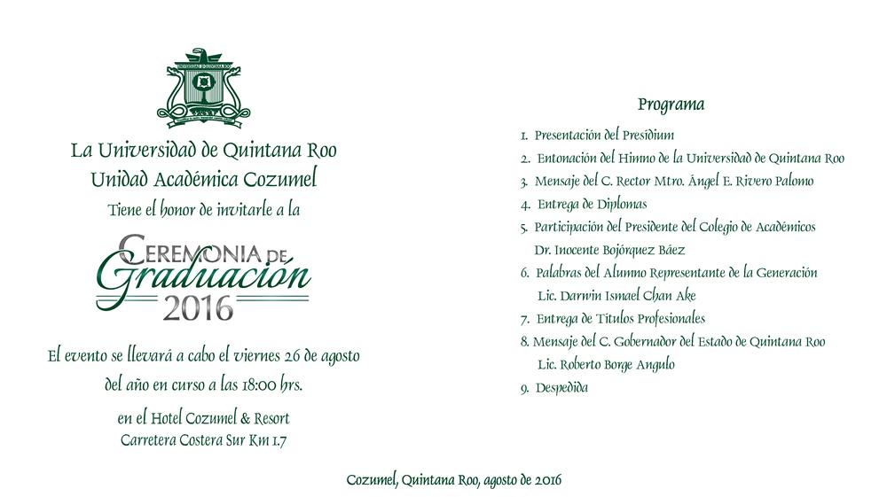 Ceremonia de Graduación - Universidad de Quintana Roo