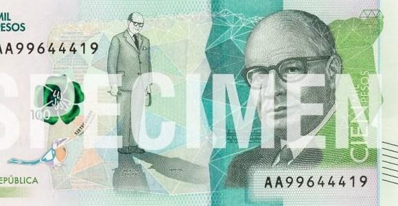 Así es el billete de 100 mil pesos