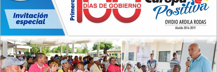 LA ADMINISTRACIÓN MUNICIPAL CAREPA POSITIVA RENDIRÁ CUENTAS DE SUS PRIMEROS 100 DÍAS DE GOBIERNO
