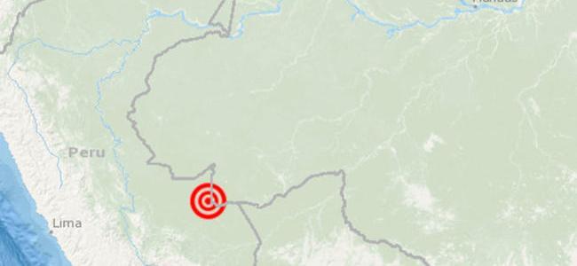 Fuerte terremoto en zona fronteriza entre Perú y Brasil