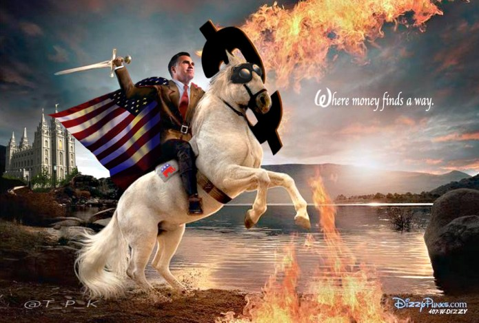Mitt White Horsing Around