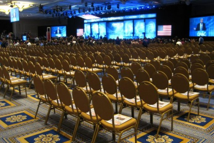 Empty chairs Trump