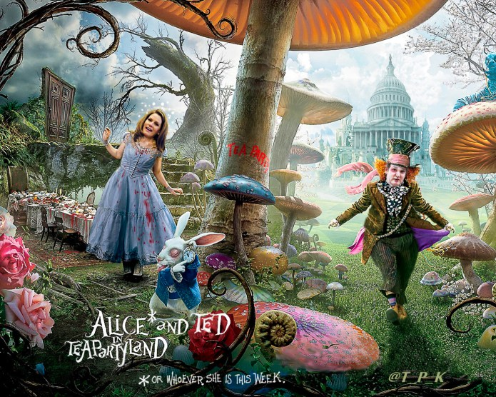 Alice and Ted in Tea Party land