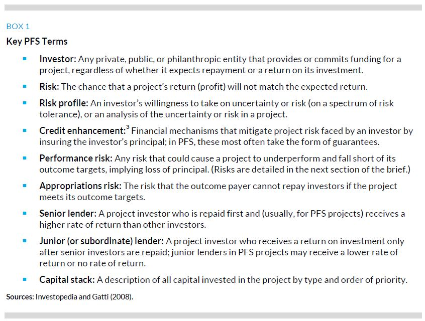 Managing Investorsu0027 Risk in Pay for Success Projects Urban Institute - subordination agreement template