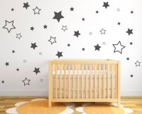 Stars Wall Stickers - Pack of Star Stickers in various ...