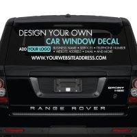 Car Window Sticker - Design Your Own - Custom Made ...
