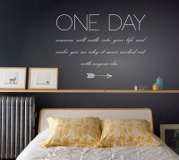 One Day Quote Wall Stickers - Quote Wall Art - Word Wall ...