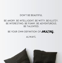 Don't Be Beautiful Wall Sticker - Feminist Wall Stickers ...