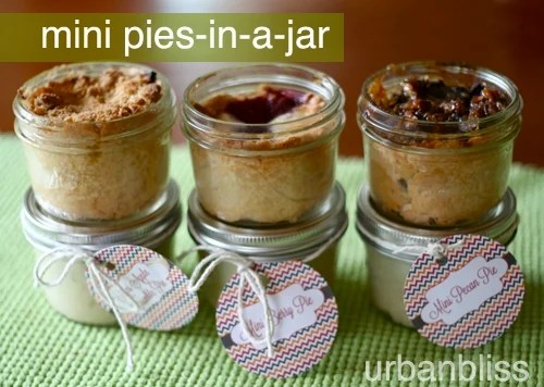 mini berry pies in a jar mini pecan pies in a jar mini apple pies in a jar recipes