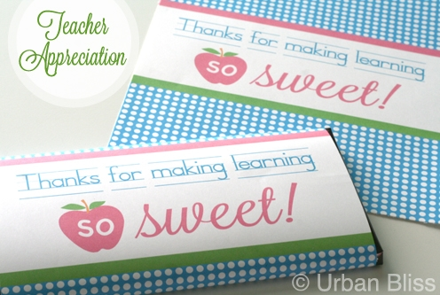 Teacher Appreciation Week Printable 4 of 5: Candy Bar ...