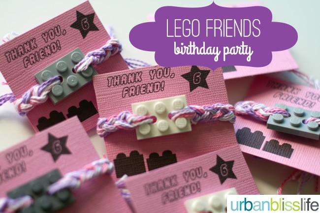 LEGO-Friends-Birthday-Party-friendship-bracelets - Urban Bliss Life