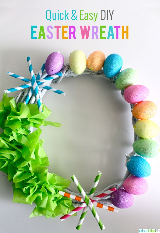 Quick Amp Easy Diy Easter Wreath Tutorial Urban Bliss Life