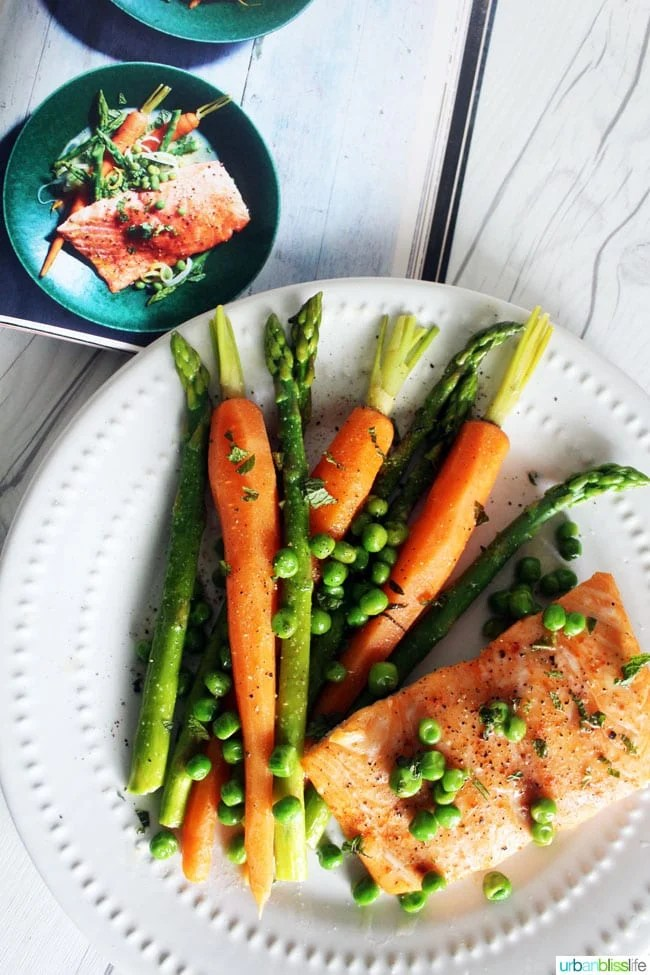 FOOD BLISS: Slow Cooked Salmon with Spring Vegetables