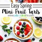 Easy & Delicious Mini Fruit Tarts recipe on UrbanBlissLife.com