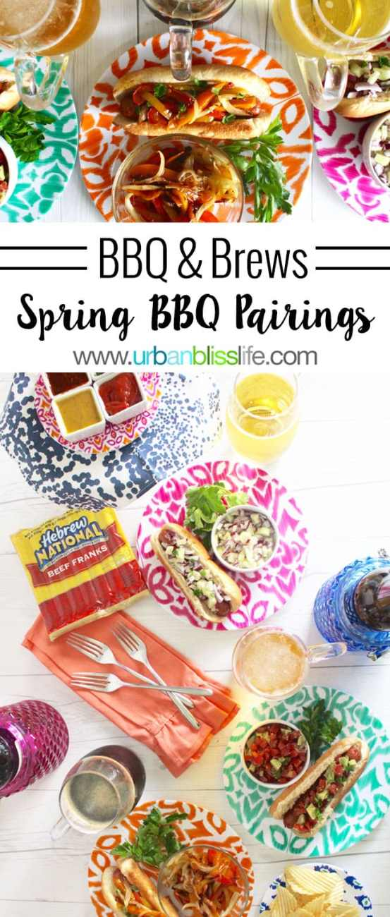 FOOD BLISS: Spring BBQ Hot Dog Topping Ideas & Beverage Pairings