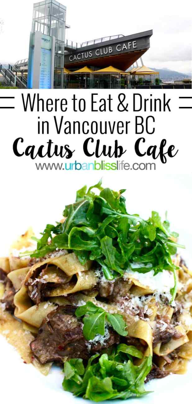 Where to Eat & Drink in Vancouver, BC: Family-Friendly Cactus Club Cafe