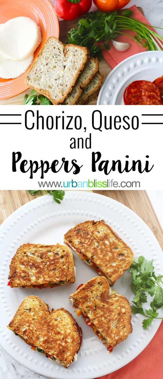 FOOD BLISS: Chorizo, Queso, and Pepper Panini Sandwiches
