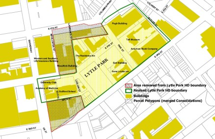 Proposed Lytle Park Historic District Boundary (City of Cincinnati)