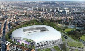 Le projet du nouveau stade d&#039;Anderlecht.