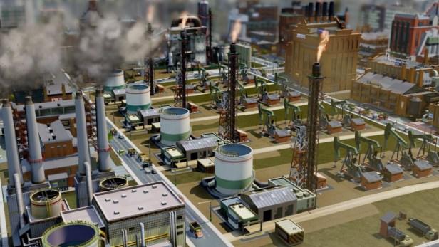 Une ville visiblement spécialisée dans l'industrie lourde.