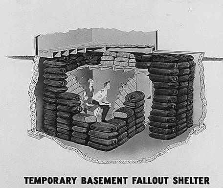 Temporary fallout shelter
