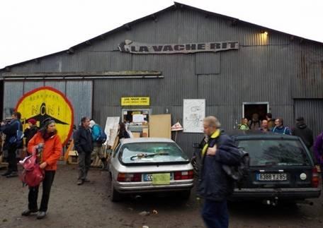Le centre névralgique de la ZAD, la Vache Rit, ou se jouent l'organisation du site