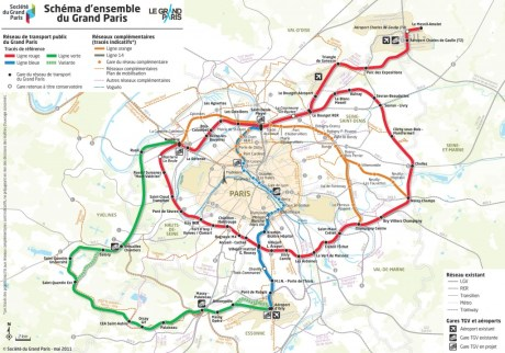 Schéma densemble du Grand Paris 460x322 Le supermétro nouvelle version se précise