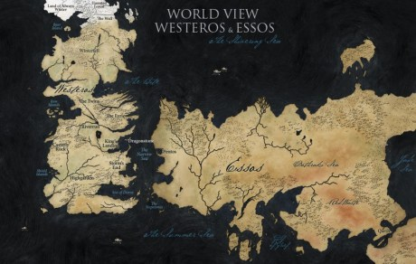 Game of Thrones   World Map 460x292 Le monde de Game of Thrones