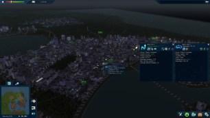 Vue générale de nuit dans Cities in Motion 2