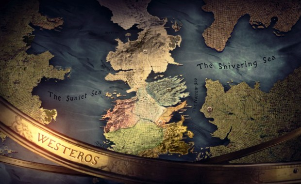 Carte du monde de Game of Thrones