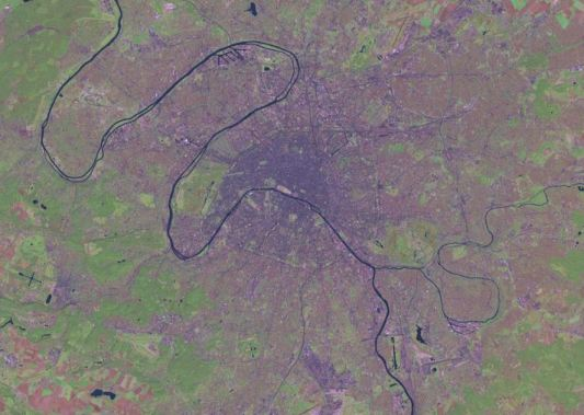 Image satellite de Paris et sa région