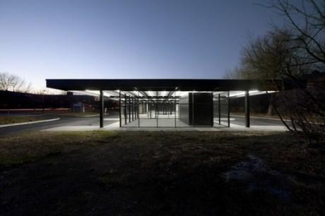 Le projet de reconversion de la station service de Mies Van Der Rohe à l'Île des Sœurs. Crédit photo: FABG
