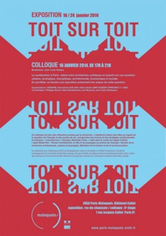 "Affiche du colloque ""Toit sur Toit"". Crédit Photo: ENSA Paris-Malaquais."