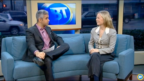 Colleen Hardwick and Riaz Meghji on Breakfast TV Vancouver