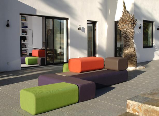 colorful modular indoor outdoor furniture maison et objet design preview. Black Bedroom Furniture Sets. Home Design Ideas