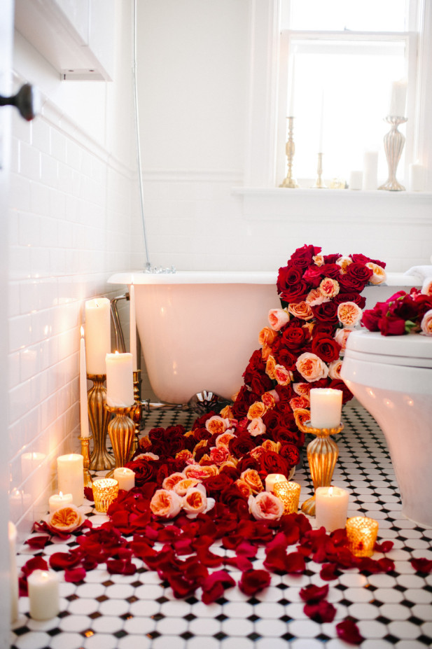 Roses in the bath