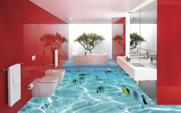 High Quality 3D Bathroom Floor Murals 3D Flooring Ideas Nice Design