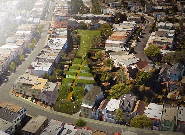 golden-bridges-aerial-land-parcel-green-roofs-urban-farm-school-urbangardensweb