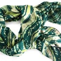 Peas Splash Shawl - African shawl