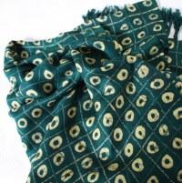 Green African Shawl, Adire Shawl | Urbanknit