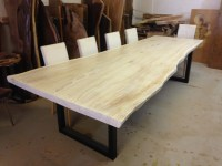 Live Edge Dining Table - White Dining Table - Redwood